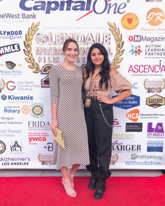 """On the red carpet with co-star Valentina Murra for film """"Affliction"""""""