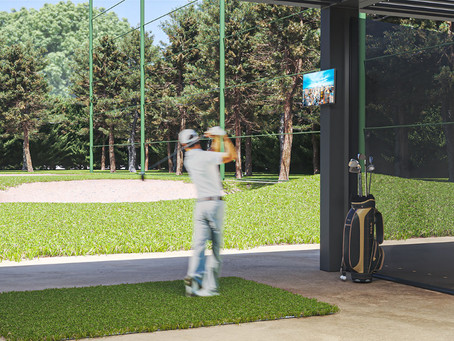 Simple, cost-efficient, all-seasons golf driving range.