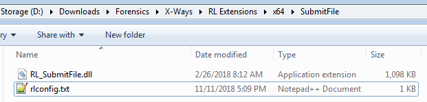 Folder for SubmitFile extension