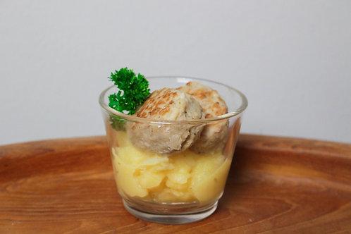 36_ECONOMY: Oberpfälzer Fleischpflanzerl  Kartoffelsalat