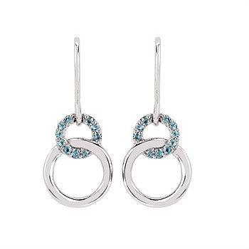 double loop drop Earrings