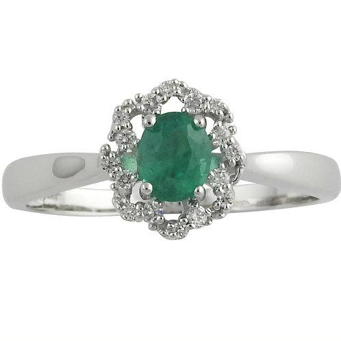 Halo Style Ring