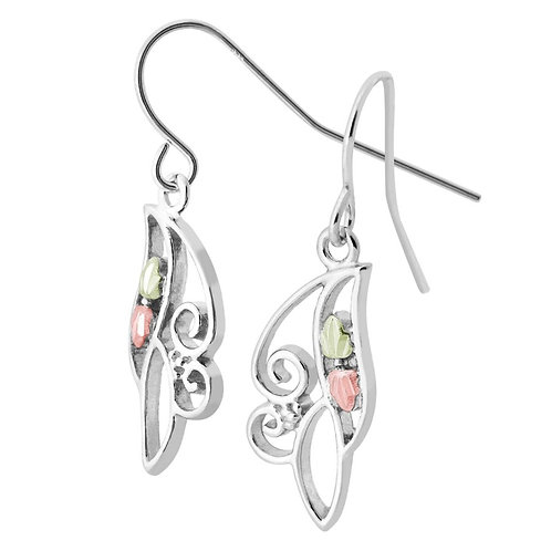 Black Hills Gold butterfly Earrings