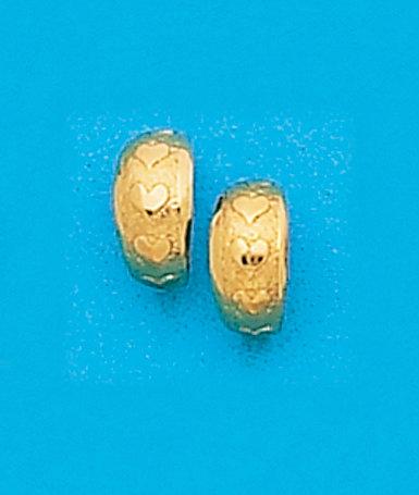 Petite Heart Hoop Earrings