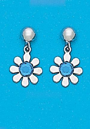March Daisy Dangle Earrings
