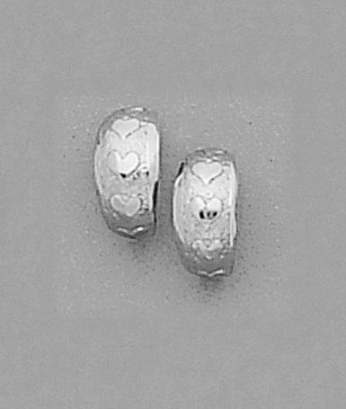 Petite Hearts Hoop Earrings