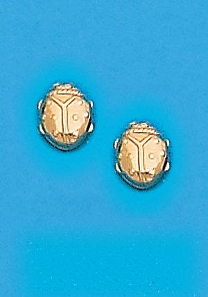 Ladybug Metal Color Earrings