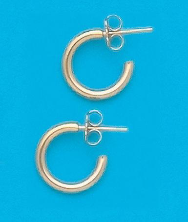 """3/8"""" Hoop Earrings"""