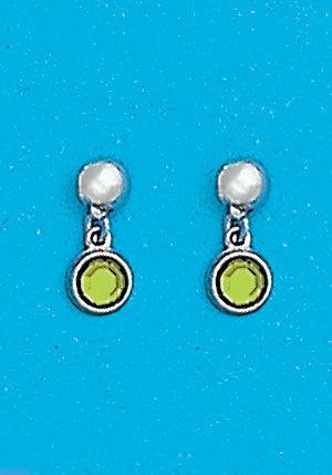 August Dangle Metal Color Earrings