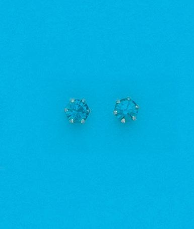 December Stud Metal Color Earrings