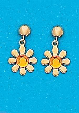 November Daisy Dangle Earrings