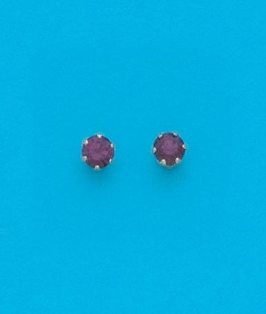 February StudMetal Color Earrings