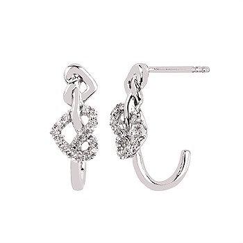 heart knot Earrings