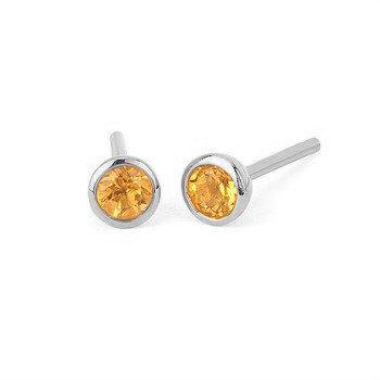 bezel stud Earrings