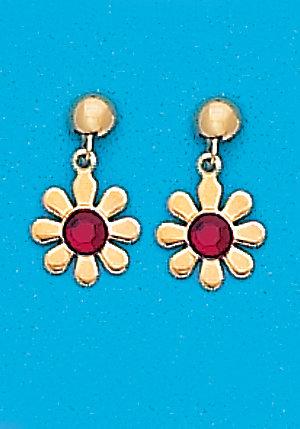 January Daisy Dangle Earrings
