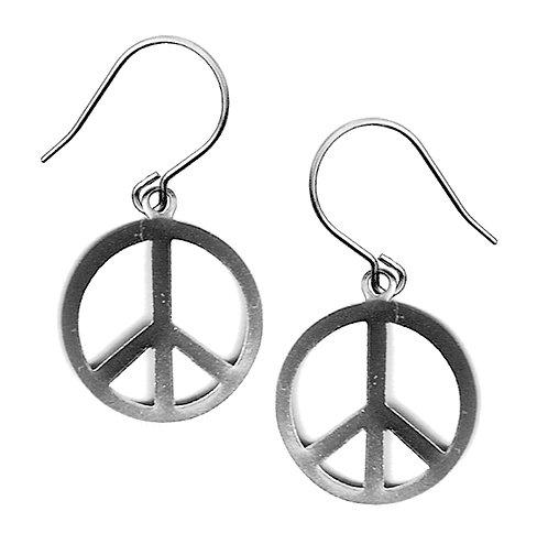 Peace SignDangle Earrings
