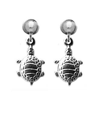 Turtle Dangle Metal Color Earrings