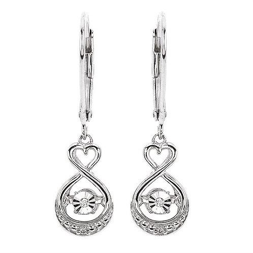 infinity heart drop Earrings