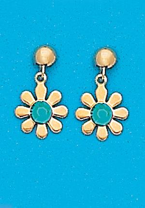 December Daisy Dangle Earrings