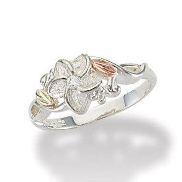 Black Hills Gold Plumeria Ring