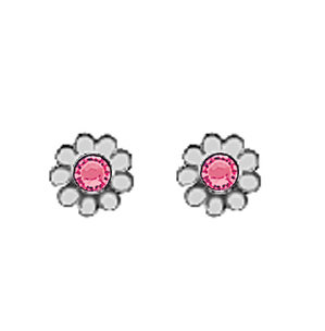 October Daisy Metal Color Earrings