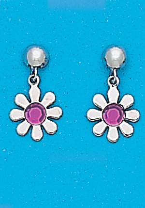 February Daisy Dangle Earrings
