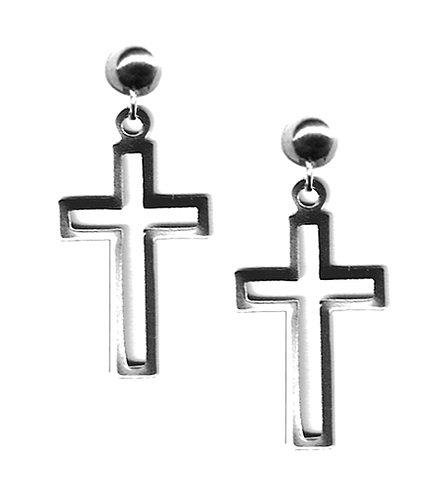 Open Cross Earrings