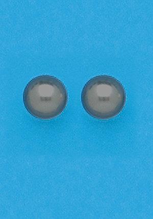Black Simulated Pearl Earrings
