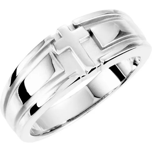 Grooved Cross Ring