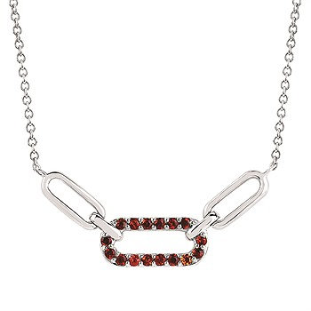 PaperclipMain Stone Necklace