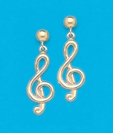 TrebleClef Earrings