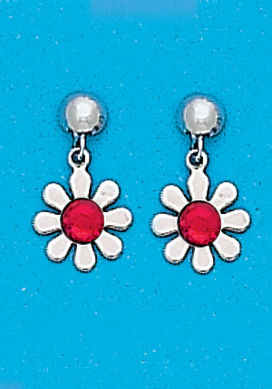 July Daisy Dangle Metal Color Ring