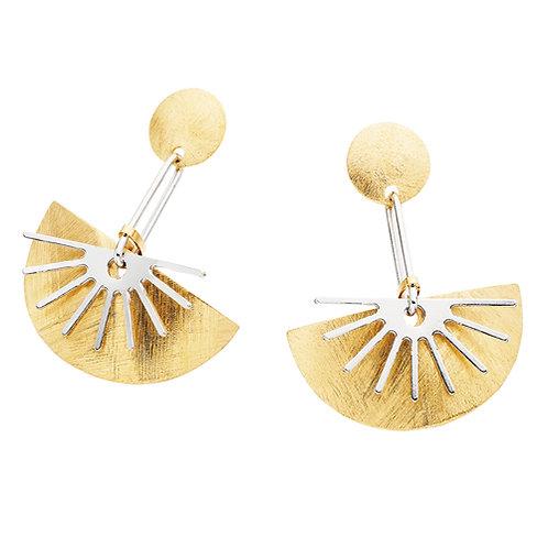 origami crescent Earrings