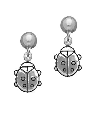 Ladybug Dangle Earrings