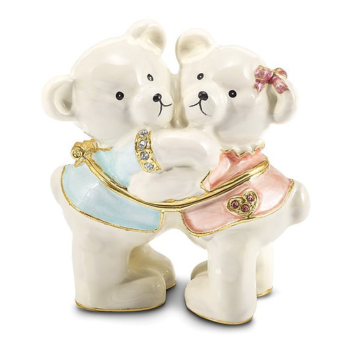 TEDDY and TOOTSIE Bears Trinket Box