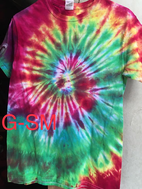 Tie Dye T-shirts - Adult Size Small