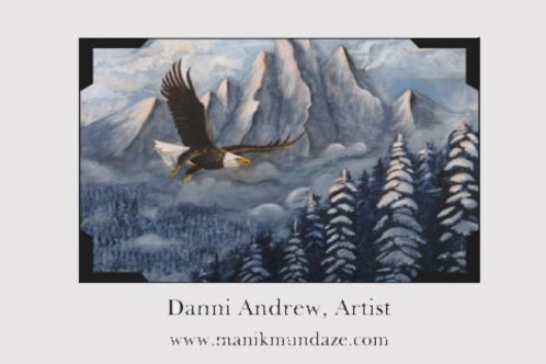 Print of an Original Oil Painting - Eagle