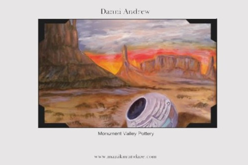 Print is an 11X17 of an original oil painting titled Monument Valley Potter