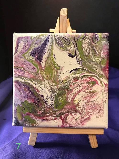4X4 Dutch Pour on Canvas