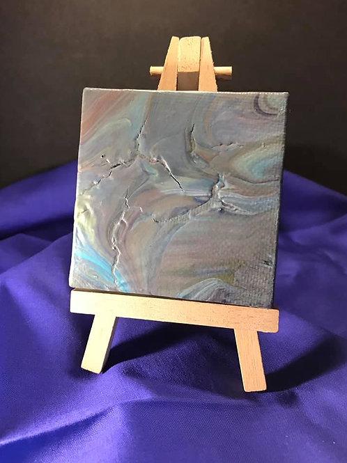 Acrylic Pour 3X3 Canvas