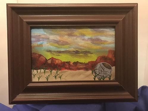 5X7 Oil on canvas - Framed
