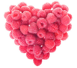 Red Love Shaped Heart of Fresh Fruit