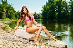 Veronika - Pink swimsuit