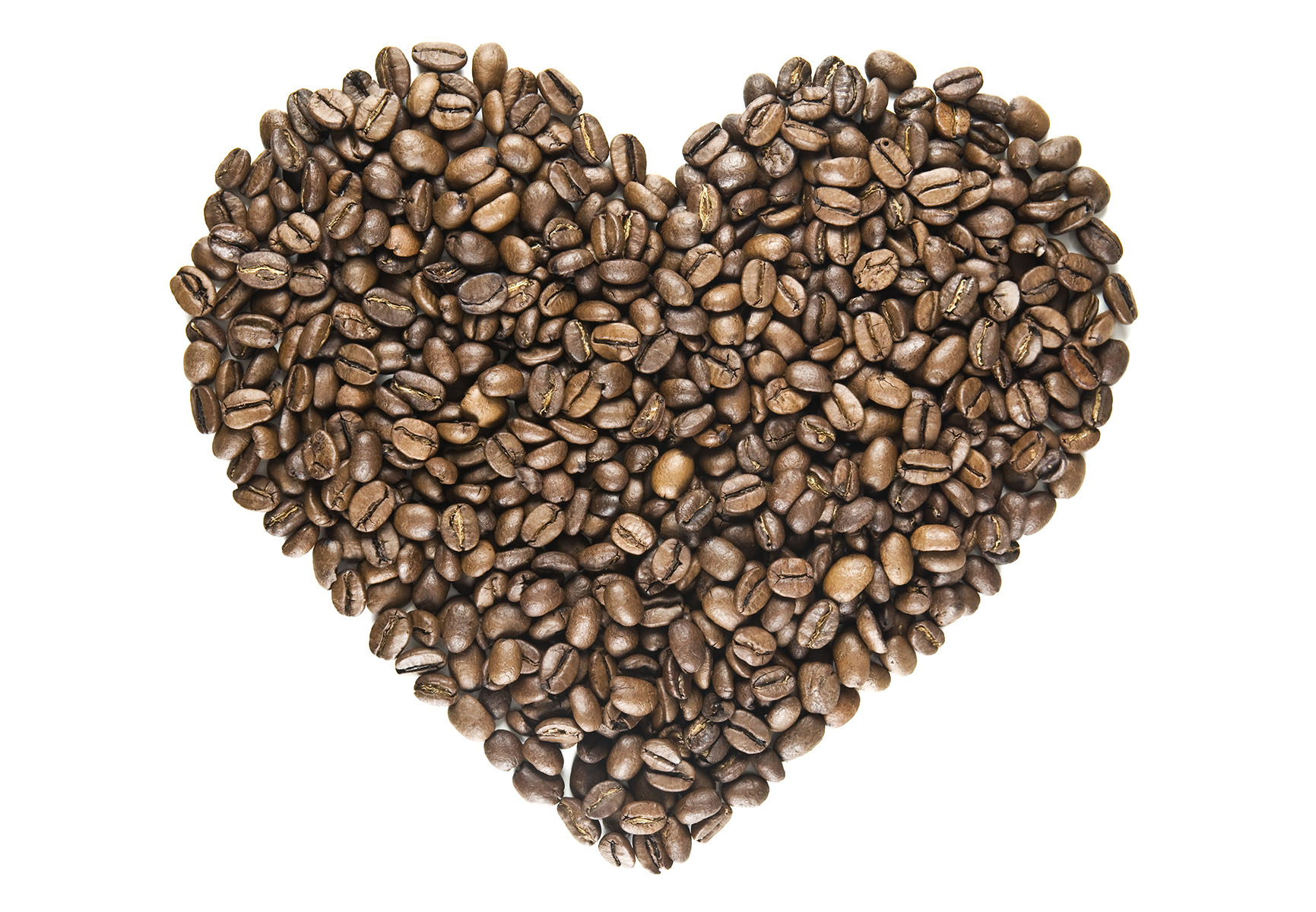 I Love Coffee - heart of roasted bea