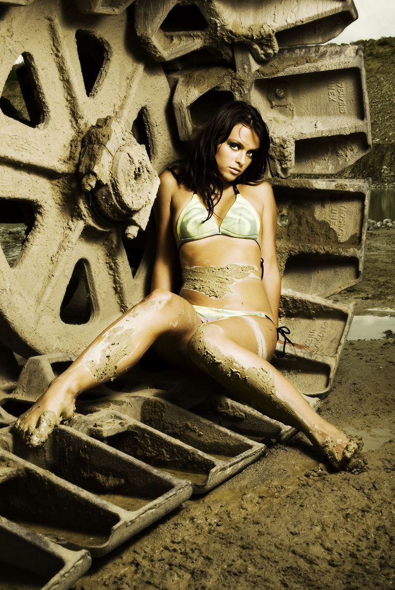 Hot dirty girl and machine