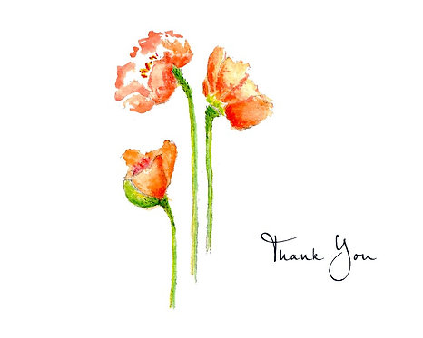 Orange Poppy - Thank You