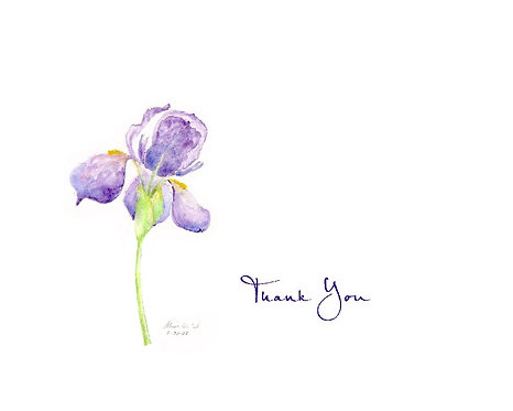 Purple Iris - Thank You