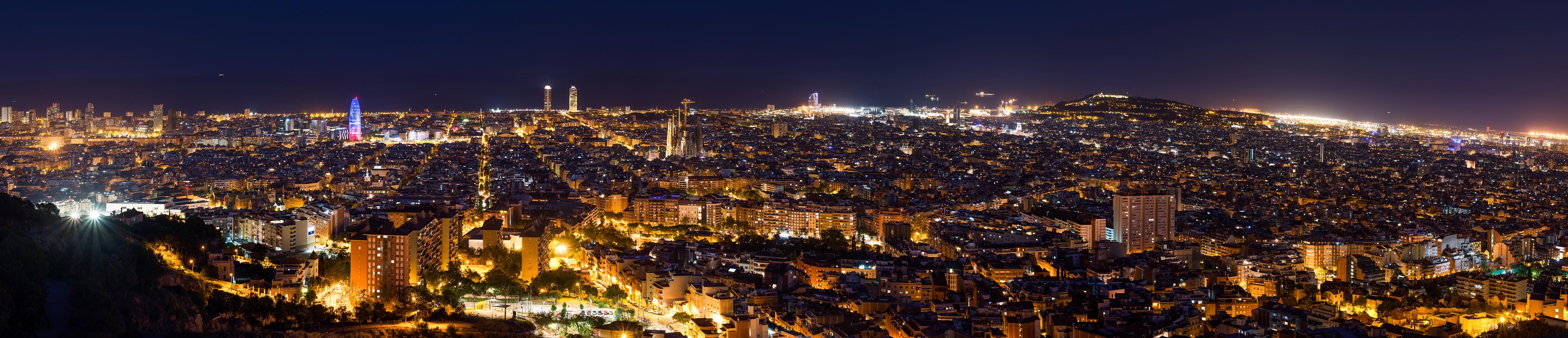 Barcelona en la noche