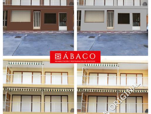 Infografía de color en apartamentos de la playa de Xeraco.