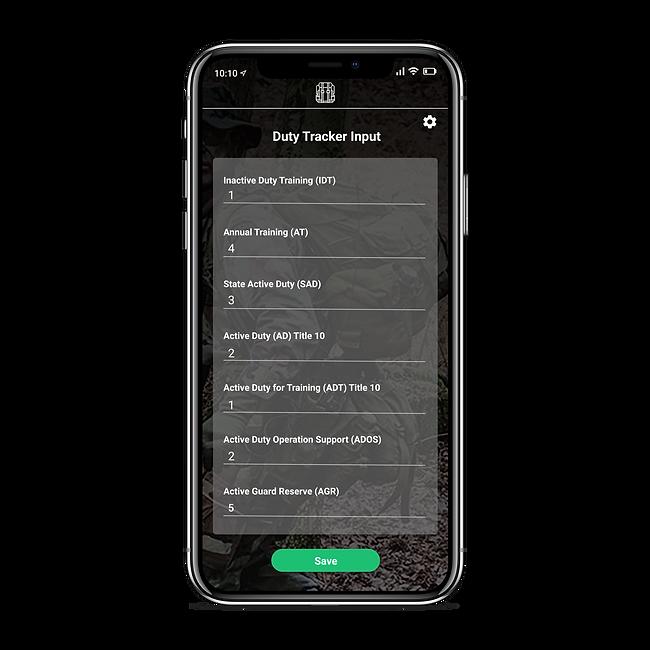Duty tracker input_iphonexspacegrey_port